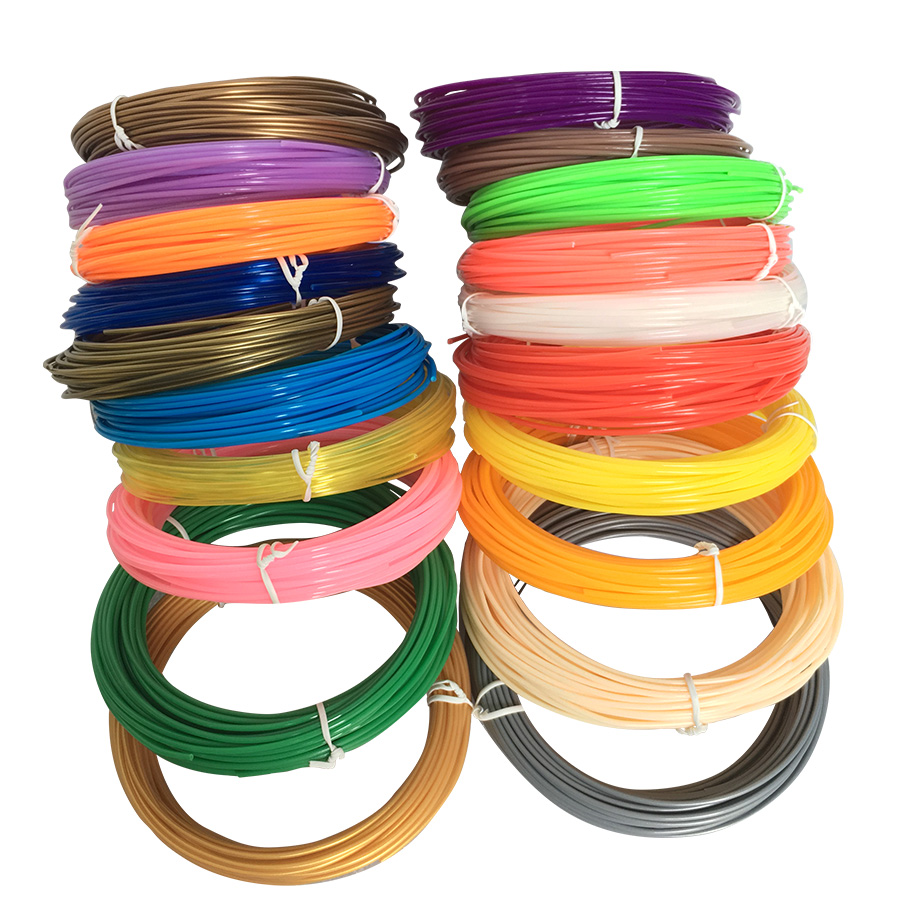 3D Pen Filament Refills 1.75mm ABS/PLA - 20 Different Colors (2 Glow in the Dark) for 3D printing pens 1china free shipping 20pcs abs 3d printing materials filament 1 75mm 20 different colors for 3d printer or 3d pens gift for kids