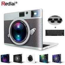 Fasion camera pattern print case for macbook pro 13 a1706 15 a1707 touchbar laptop retian a1708