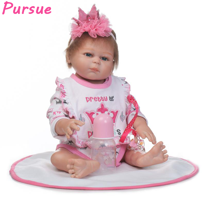 Pursue 20/50 cm Full Body Silicone Reborn Baby Twins Doll Boy Girl Adorable Bathable With Child Best Birthday Gift For Kits Toy