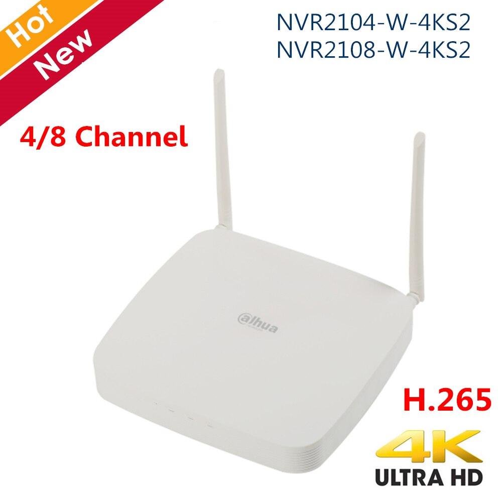 Original Dahua 4K NVR Recorder 4 Channel 8 Channel Smart 1U Lite H.265 Wireless NVR Network Video Recorder Two Antenna H.265+
