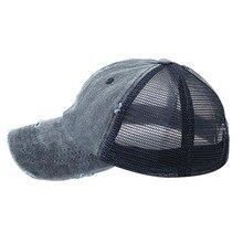 1 шт. новейшая шапка с хвостом для женщин и мужчин хлопок Регулируемый Зонт сетка Солнцезащитная теннисная Кепка спортивный аксессуар