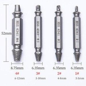 Image 4 - PROSTORMER 4Pcs Screw Extractor Drill Bit Bullone Estrattore Set Rotto Danneggiato Bullone di Rimozione Double Ended Danneggiato Screw Extractor