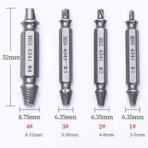 Image 4 - PROSTORMER 4Pcs Screw Extractor Drill Bits Bolt Extractor Set Broken Damaged Bolt Remover Double Ended Damaged Screw Extractor