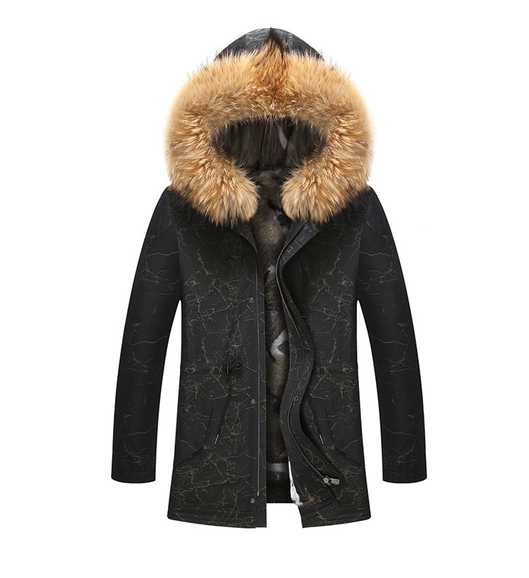 7 Fur Winter Jackets Mens Super Warm Parkas Camel Hairs Filling with Raccoon Hood big fur winter coat thicken parka