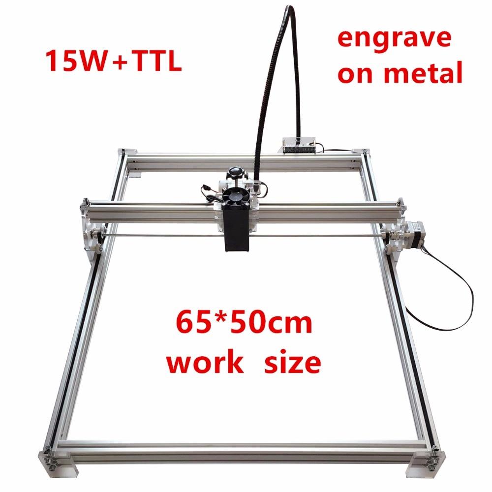 15 w DIY Laser Machine De Gravure Pour Jouet Laser Machine De Découpe, 15 Laser Graveur Marque Sur Métal, Zone de Travail 65*50 cm