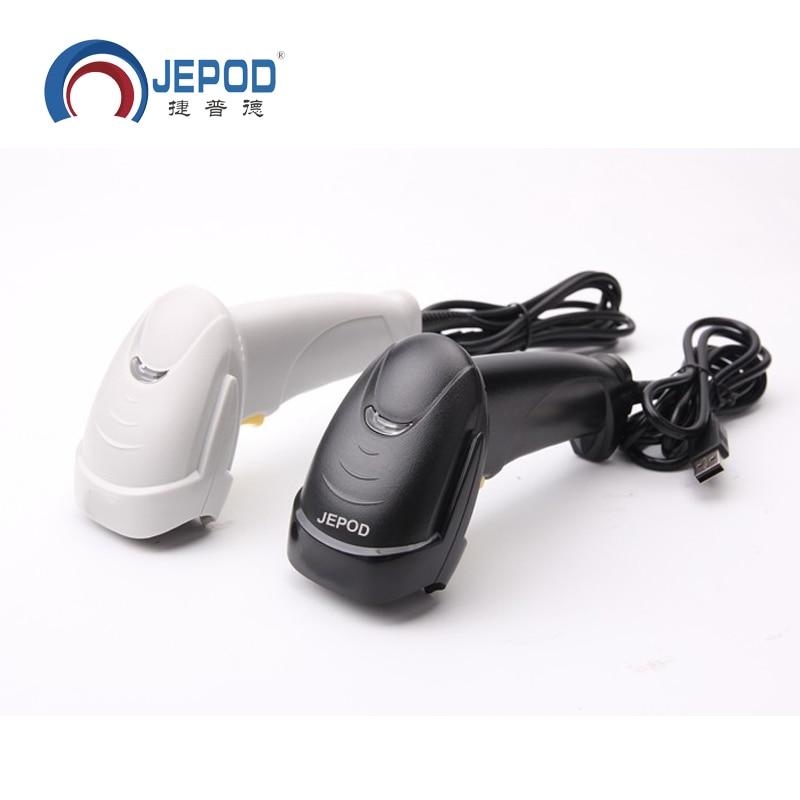 Freeship JP-K11 hulgimüük 11,9 dollarit Pihuarvutite vöötkoodilugeja laser-vöötkoodilugeja käeshoitav traadiga USB-vöötkoodilugeja 1D-koodide lugeja