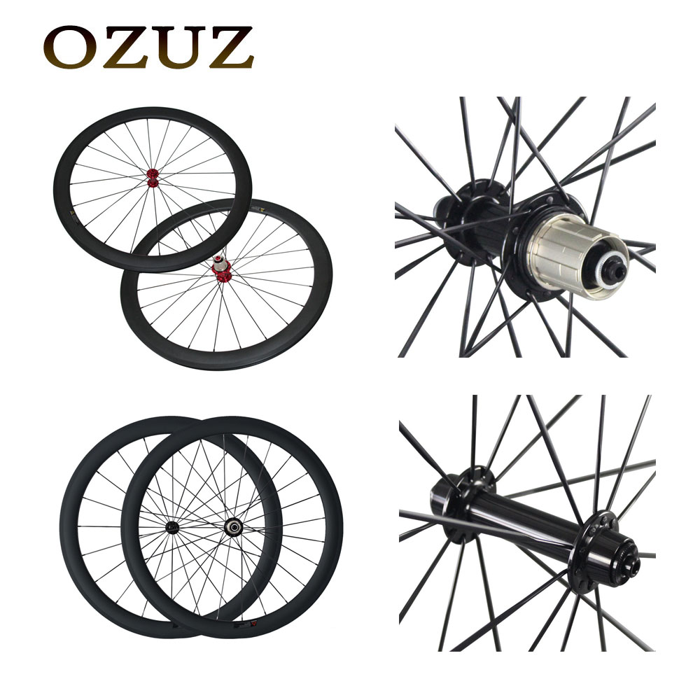 Free custom Fee Carbon Road Bicycle Bike Wheel Ceramic Bearing 50mm Clincher Tubular Powerway R13 700C Single Wheel or Wheelset стоимость
