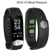 CD01 ЭКГ артериального давления HR Смарт Bluetooth Спорт умный Браслет Фитнес трекер Smart Браслет вызова sms для IOS Android