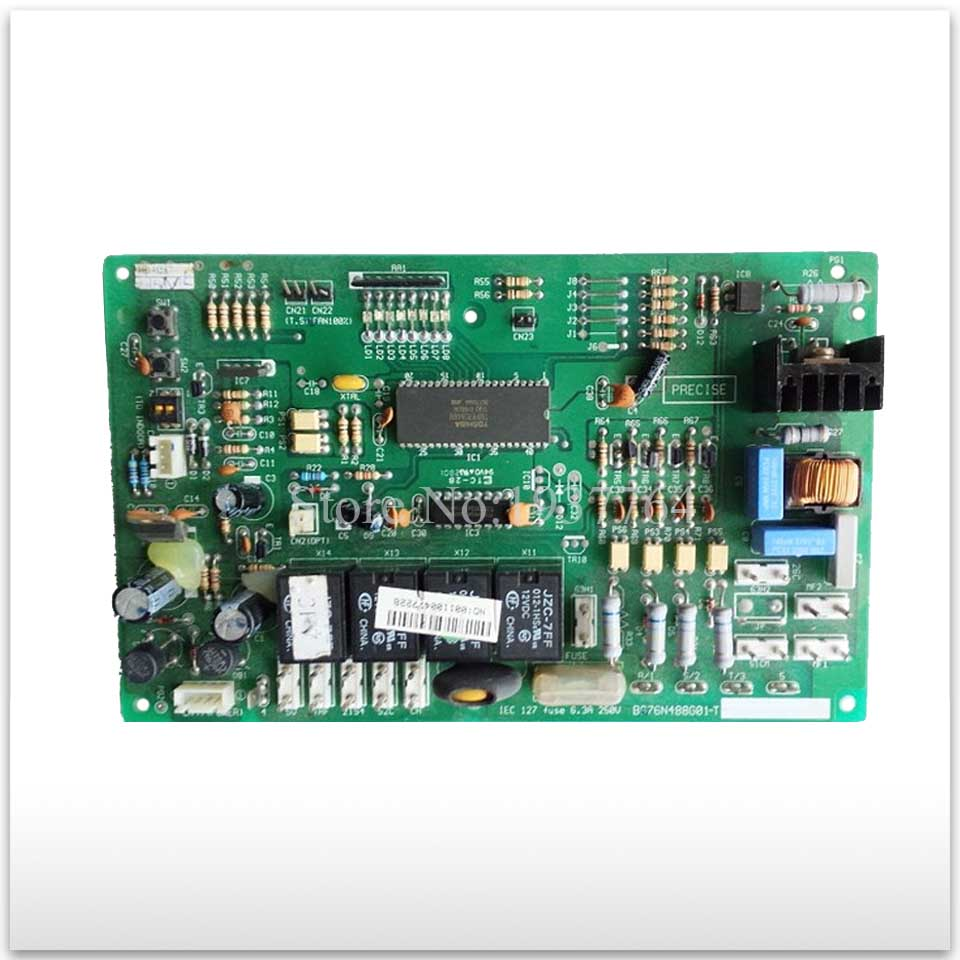 95% new for Air conditioning computer board circuit board BG76N488G01-T good working триммер электрический mtd et 250 250 wt