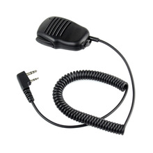 2 Pin Mini PTT Speaker MIC Walkie Talkie Accessories For Baofeng UV5R 888S For Kenwood For TYT Two Way Radio C9021A цена