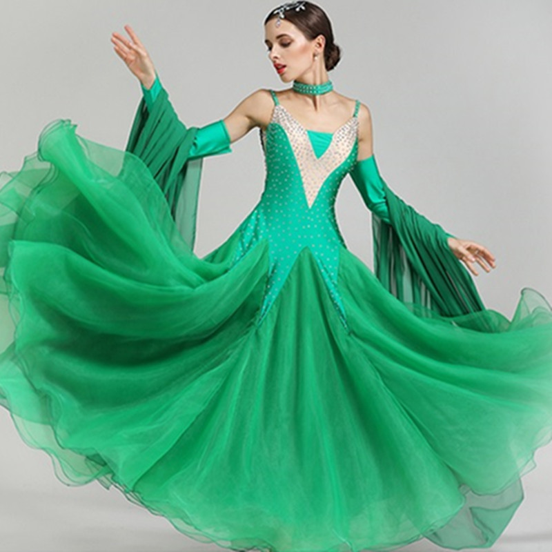Ladies Red Ballroom Dance Dress Modern for Women Costumes Standard Ballroom Dress Competition Waltz Blue Women Dresses