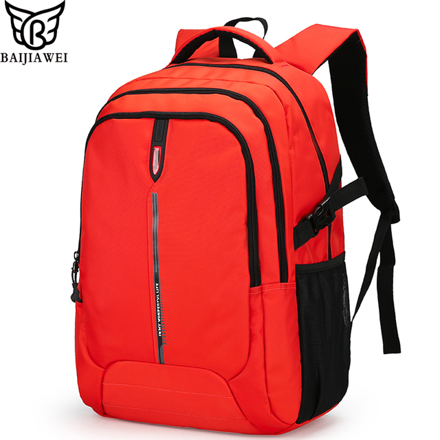 BAIJIAWEI New Arrival Backpack For Men Women Big Capacity Casual Laptop  Bags Nylon Waterproof Travel Backpacks Daily Bag mochila 3f4ed4f6a215e