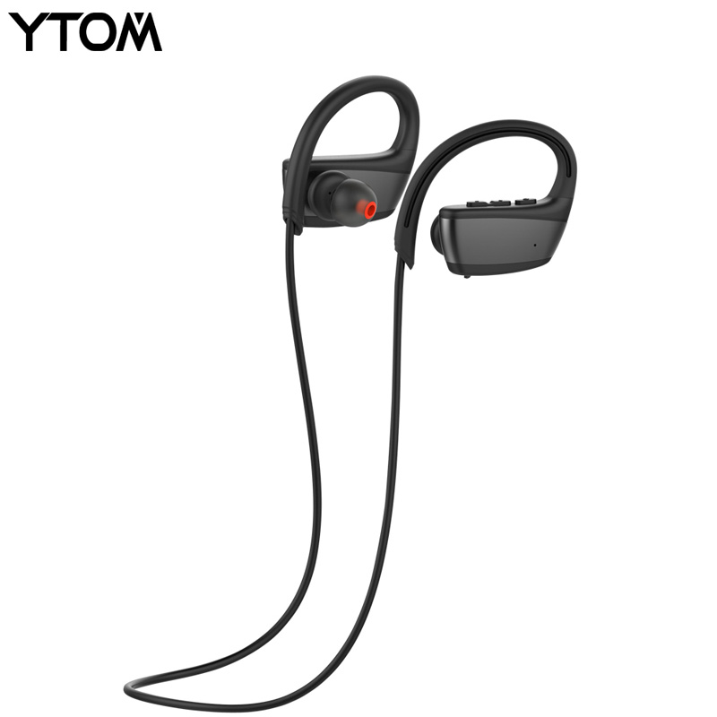 IPX7 Professional Waterproof Bluetooth Wireless Headphones Best Wireless Sports Earphones with MIC for running swimming headset