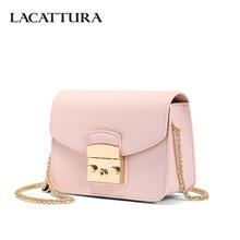 LACATTURA Mini Candy Bag Női Messenger táskák tehénbőr bőr luxus kézitáska Lady Lánc válltáska divat Crossbody for Girl