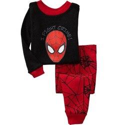 Novo 2019 primavera outono menina pinguins meninos sleepwear animal 2 3 4 5 6 7 anos pijamas roupas crianças manga longa conjuntos