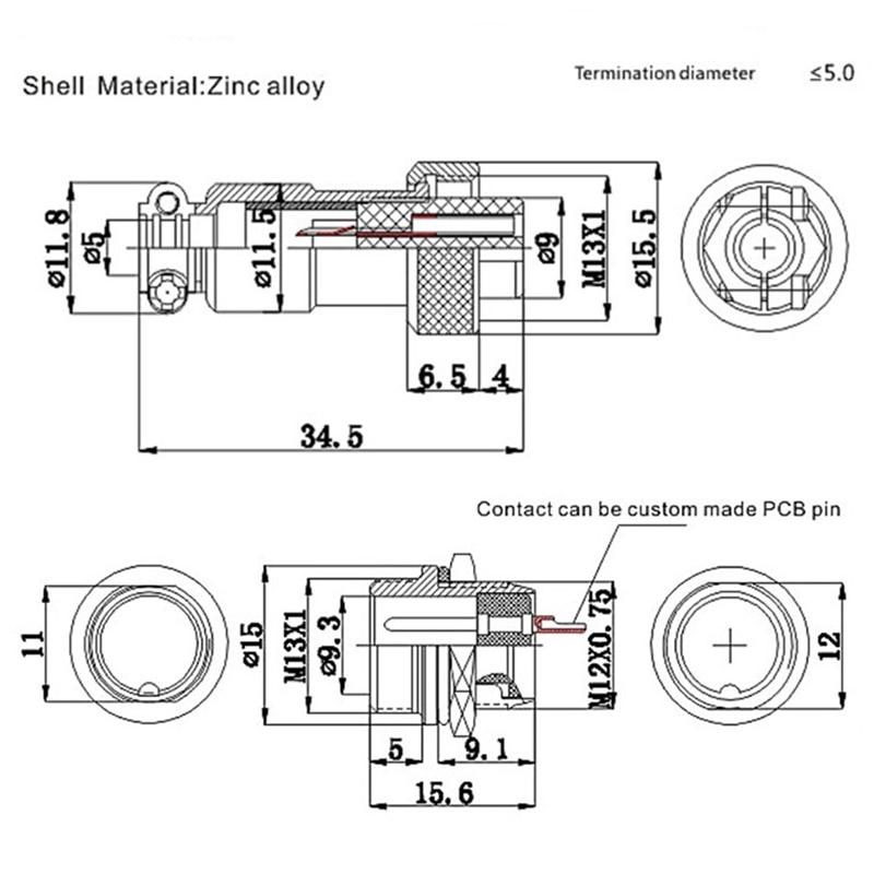 US $0.1 1% OFF|1Set 7/16  Pin M Wiring Diagram on