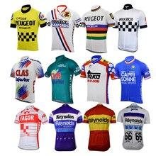 Maillot de cyclisme pour hommes, vêtement de course rétro, bleu, pour la france et lespagne, vêtements de cyclisme