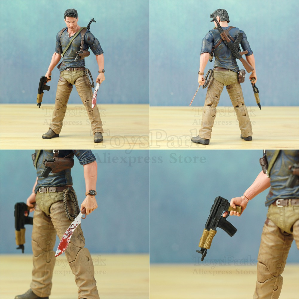 "Image 4 - Uncharted 4 A Thief's End Ultimate Nathan Drake 7"" Action Figure Doll Toys KO's NECA Video Game Sony PS4 Naughty Dog Collectible-in Action & Toy Figures from Toys & Hobbies"