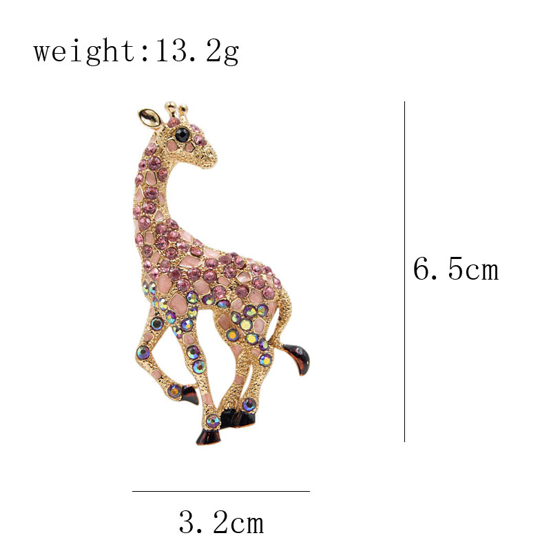 CINKILE rhinestone vintage giraffe brooches for women fashion jewelry cute animal brooch pin 3 colors choose new year gift in Brooches from Jewelry Accessories