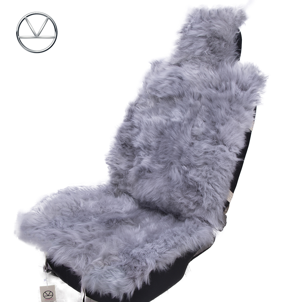 KAWOSEN 100 Natural Fur Sheepskin Car Seat Covers Universal Wool Car Seat Cushion Winter Warm Car