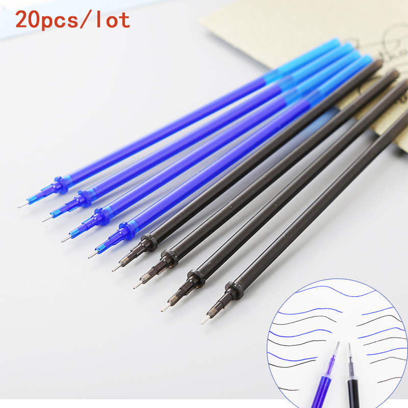 20pcs lot Erasable Pen Refill 0 5mm School Office Gel Pen Rod Magic Erasable Pen Blue Black Ink Cute Stationery for Writing Gift in Gel Pens from Office School Supplies