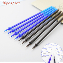 20pcs/lot Erasable Pen Refill 0.5mm School Office Gel Pen Rod Magic Erasable Pen Blue/Black Ink Cute Stationery for Writing Gift 20pcs lot hot selling 0 5mm plastic gel pen refill black neutral pen replace office school