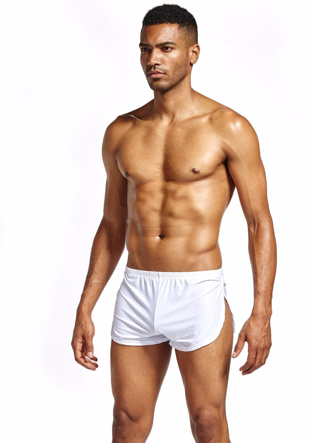 JOCKMAIL Marque 4 pcs Sexy Hommes Sous-Vêtements Boxers Gay Pénis Pouch  Accueil Nuit Nylon Homme Sous-Vêtements Boxer Shorts de Nuit c52a3bebd5c