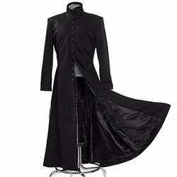 2017 La matriz Cosplay personalizado disfraz de Cosplay negro Neo abrigo único abrigo