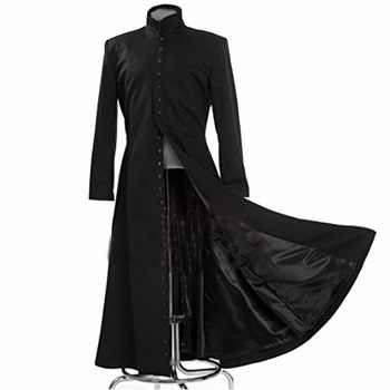 2017 The Matrix Cosplay Customised Black Cosplay Costume Neo Trench Coat Only Coat - DISCOUNT ITEM  0% OFF All Category