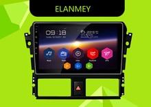 Elanmey gps 8 ядерный Bluetooth стерео android 8.1.0 Автомобильный мультимедийный плеер для toyota Vios Yaris 2014 головное устройство навигационное радио устройство