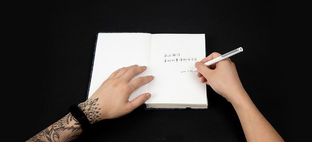Oryginalny xiaomi podpisanie pen premec mijia znak pióra 9.5mm smooth szwajcaria mikuni japonia ink refill dodać mijia długopis czarny napełniania 14