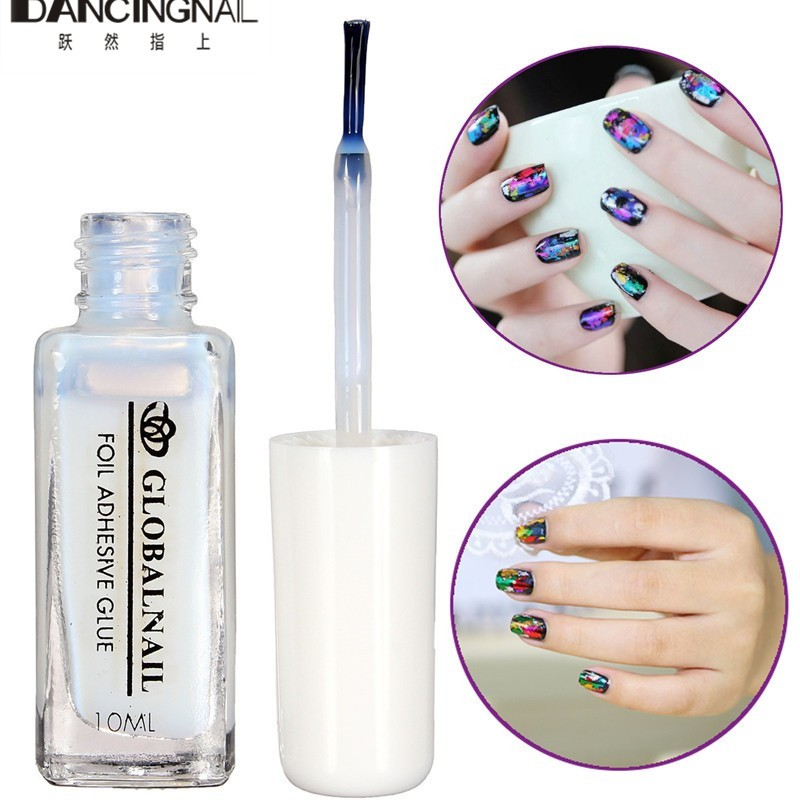 Brand New 10ml Nail Art Glue For Adhesive Foil Sticker Decoration ...