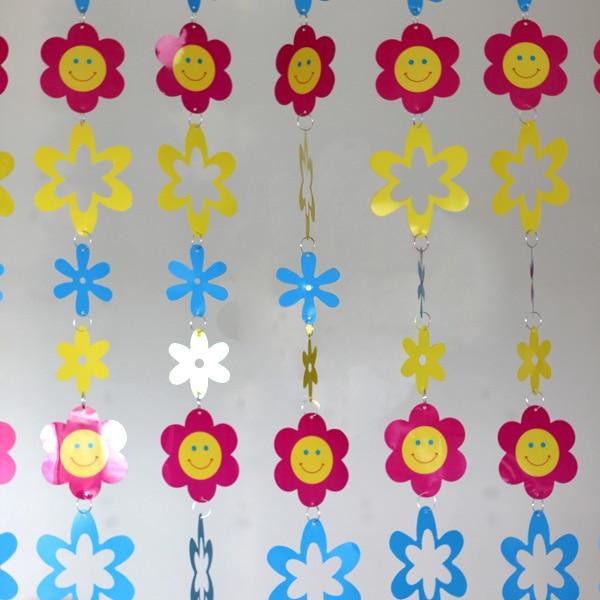 Cartoon Kinderzimmer Dekorative Kunststoffvorhänge Indoor Home Dekoration Hochzeit liefert