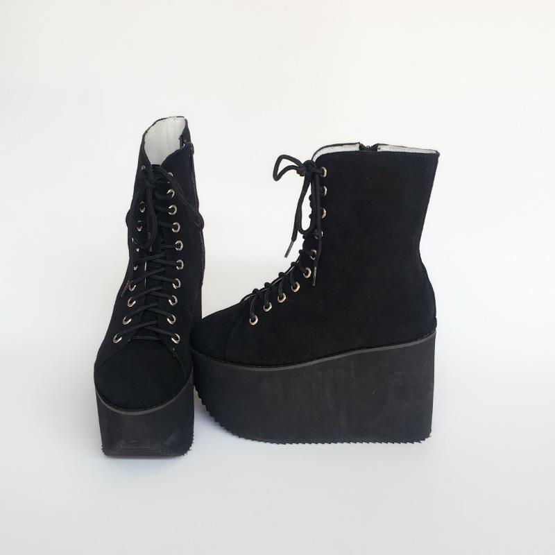 Viento Europeos Casual Princesa Zapatos De An1381 Cabeza Sencilla Redonda Y Mujeres Americanos Dulce Moda Muffin Negro Punk ttwOqF7xg