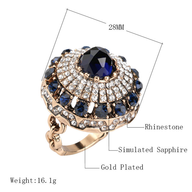 plated rings crystal rhinestone item for hot green stone gray white gold ring new big design flower