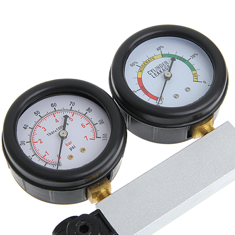 Car Cylinder Engine Leak Tester Compression Leak down Gauge Diagnostic Detector
