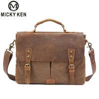 New Fashion Men's Vintage Handbag Leather Shoulder Messenger Bag Laptop Briefcase Satchel Bag Fit 14 Inch Laptop Bags