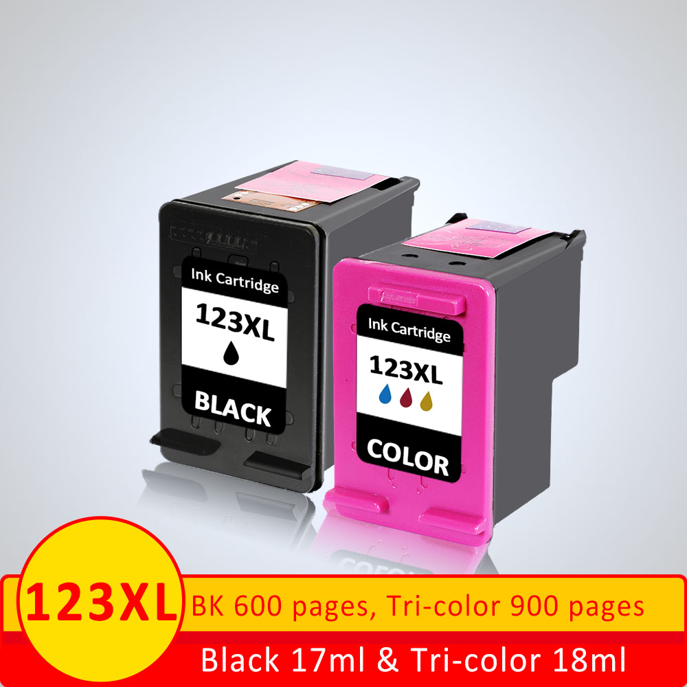 XiangYu ink Replacment For HP 123 123XL Black Ink Cartridge For HP Deskjet 2130 / 1110 / 3630 / 3632 / 3637 / 3638