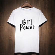 Harajuku Black White Woman Girl power Lettering T-shirt Geek T Shirt Woman Tee Street Wear Womens Letter Print Robot Tshirt