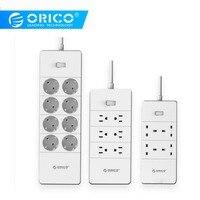 ORICO HPC V1 USB EU UK US Electrical Socket Smart Power Strip Overload Switch Surge Protection 4 6 8 AC Outlets 5 2.4A USB Ports