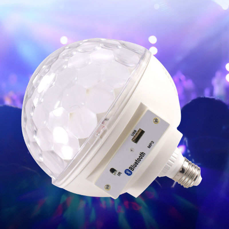 LED voice magic ball lights KTV bar flash colorful rotating crystal stage lights voice Using for family reunions Party and etc