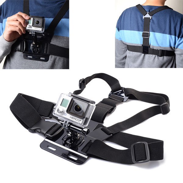 GoPro Accessories Elastic Chest Harness Belt Mount Chesty For Gopro Hero 4 Hero 4 Session 3+ 3 2 SJ4000 SJ5000 Sport Camera все цены