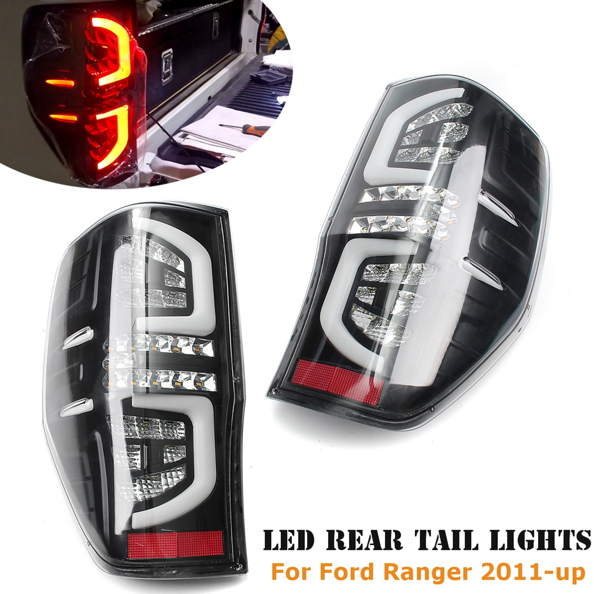 1 Pair for font b Ford b font Ranger LED Tail Rear Lamp Light Clear Read