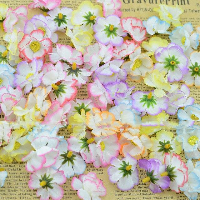 6pcs Lot High Quality Artificial Silk Flower Heads Diy Hair Clips For Wedding
