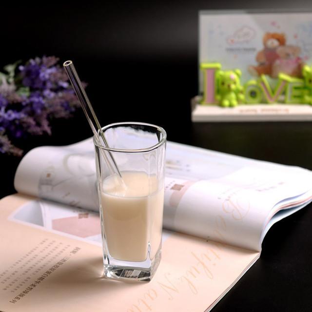 Reusable Glass Smoothie Drinking Straws for Milkshakes