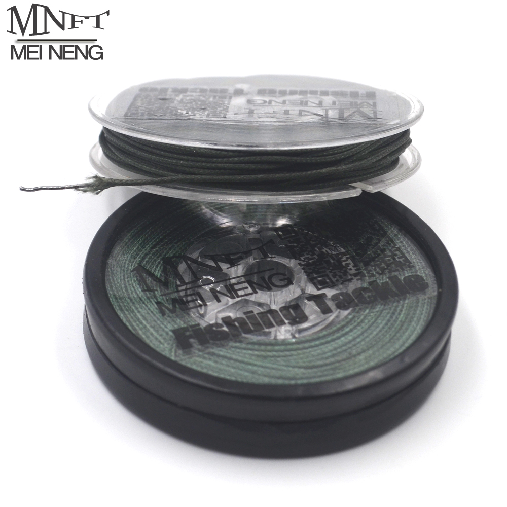 MNFT 1 Spool Lead Core Carp Fishing Line 25Lbs 35Lbs 45Lbs 10Meters for Carp Rig Making Sinking Braided Line Free Baiting Needle