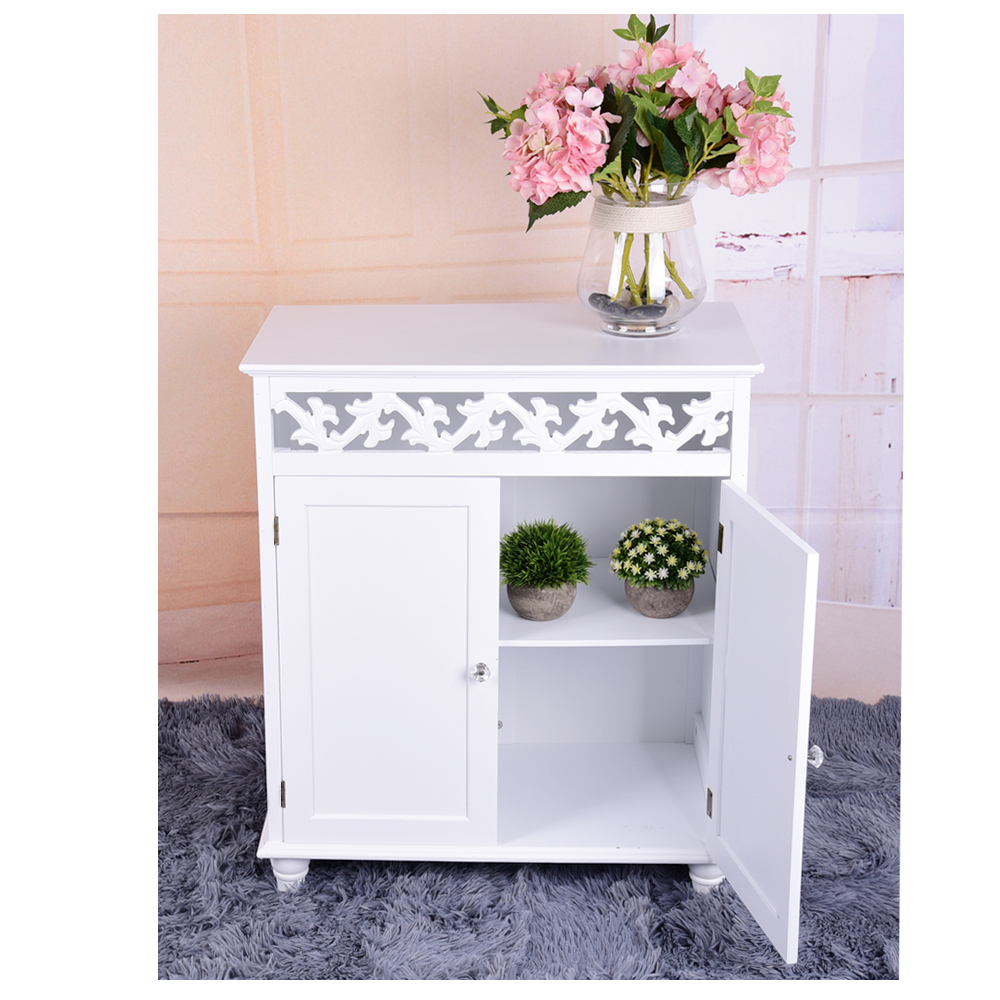 White Wooden Console Table Freestanding Living Room Sideboard Cupboard Cabinet 2 Doors HOT SALE freestanding houses