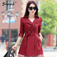 2017 9 Color Sleeved Party Coats Outwears Real Rushed Full Slim Burderry Trench Coat For Women