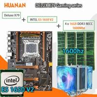 HUANAN Golden Deluxe X79 Gaming Motherboard LGA 2011 ATX CPU E5 1650 V2 SR1AQ 4 X