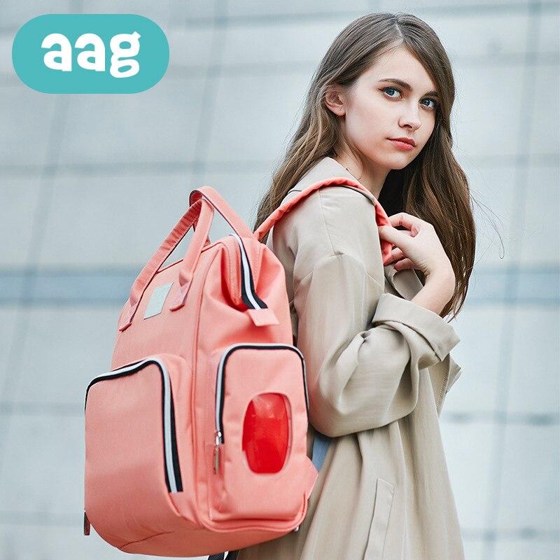 AAG mode momie maternité Nappy sac étanche grande capacité bébé soin sac voyage sac à dos Design soins infirmiers sac à couches 0